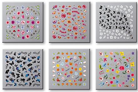 Autocollants pour ongles, 42751 - Top Choice Nail Decorations Stickers Set