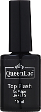 Parfums et Produits cosmétiques Top coat sans couche collante - QueenLac Top Flash No Wipe UV/LED