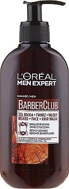 Gel nettoyant à l'huile de cèdre pour barbe, visage et cheveux - L'Oreal Paris Men Expert Barber Club