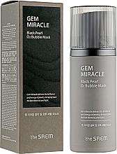 Parfums et Produits cosmétiques Masque à bulles à l'extrait de perle noire pour visage - The Saem Gem Miracle Black Pearl O2 Bubble Mask