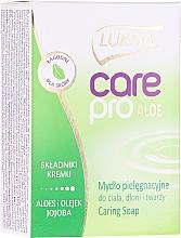 Parfums et Produits cosmétiques Savon à l'aloe vera et jojoba - Luksja Care Pro Aloe & Jojoba Cream Soap
