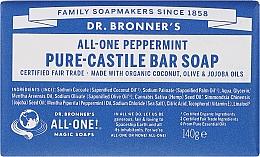 Parfums et Produits cosmétiques Savon à l'huile de menthe - Dr. Bronner's Pure Castile Bar Soap Peppermint