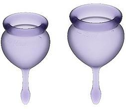 Parfums et Produits cosmétiques Set de coupes menstruelles, violet - Satisfyer Feel Good Menstrual Cups Lila
