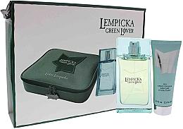 Parfums et Produits cosmétiques Lolita Lempicka Green Lover - Coffret cadeau (eau de toilette/100ml + gel après-rasage/75ml + trousse)