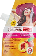 Parfums et Produits cosmétiques Crème-gel solaire à l'huile de pêche pour visage et corps SPF 20 - Fito Kosmetik Remèdes populaires