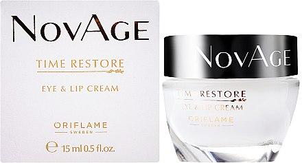 Crème rajeunissante pour le contour des yeux et les lèvres - Oriflame NovAge Time Restore Eye & Lip Cream