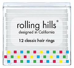 Parfums et Produits cosmétiques Set d'élastiques à cheveux, transparent - Rolling Hills Classic Hair Rings Transparent