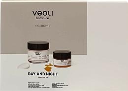 Parfums et Produits cosmétiques Veoli Botanica Day And Night - Coffret (crème de nuit/60ml + baume contour des yeux/15ml)