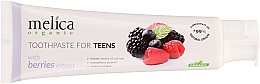 Dentifrice à l'extrait de baies pour ados - Melica Organic Toothpaste For Teens With Berries Extract — Photo N3