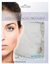 Parfums et Produits cosmétiques Masque collagène anti-âge raffermissant, peaux atopiques et sujettes aux rougeurs - Beauty Face Collagen Capillaries Strengthening Home Spa Treatment Mask