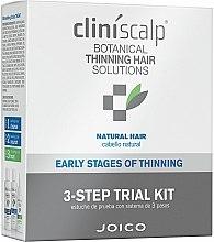 Parfums et Produits cosmétiques Traitement anti-chute de cheveux - Joico Cliniscalp 3-step Trial Kit For Natural Hair Early Stages (shampooing/100ml + après-shampooing/100ml + stimulateur de pouss/50ml)