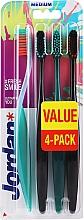 Parfums et Produits cosmétiques Brosses à dents, médium, turquoise, noir, vert, noir - Jordan Ultimate You Medium