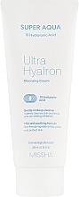 Parfums et Produits cosmétiques Crème nettoyante à l'acide hyaluronique pour visage - Missha Super Aqua Ultra Hyalron Cleansing Cream