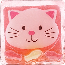 Parfums et Produits cosmétiques Savon glycériné à l'arôme de glace à la fraise, Chaton joyeux - Chlapu Chlap Glycerine Soap