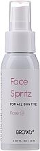 Parfums et Produits cosmétiques Brume tonique et fixante à l'eau de rose pour visage - Browly Face Spritz Spray