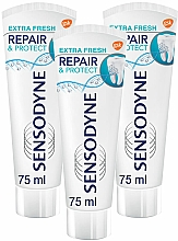 Parfums et Produits cosmétiques Sensodyne Repair&Protect Extra Fresh - Lot (dentifrice/3x75ml)