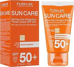 Parfums et Produits cosmétiques Crème solaire teintée pour peaux mixtes à grasses - Floslek Sun Protection Cream SPF50+