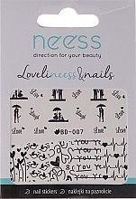 Parfums et Produits cosmétiques Autocollants pour ongles, 3684, BD-007 - Neess
