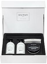 Parfums et Produits cosmétiques Set soin cheveux - Balmain Paris Hair Couture Silver Revitalizing Care Set (masque/200ml + après-shampooing/300ml + shampooing/300ml + peigne)