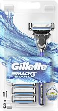 Parfums et Produits cosmétiques Rasoir avec 3 lames de rechange - Gillette Mach 3 Start