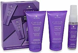 Parfums et Produits cosmétiques Alterna Caviar Anti-Aging Multiplying Volume - Set (shampooing/40ml + après-shampooing/40ml + brume coiffante/25ml)