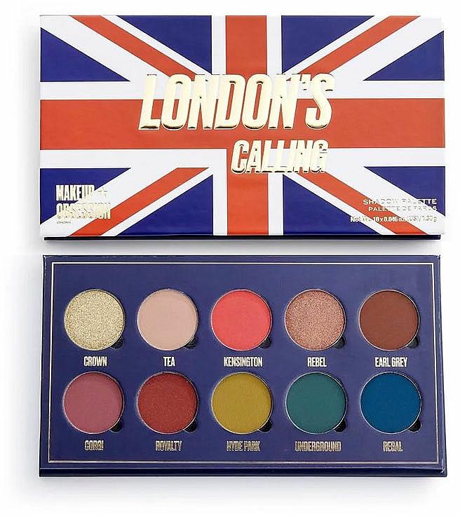 Palette de fards à paupières, 10 couleurs - Makeup Obsession London's Calling Eyeshadow Palette — Photo N1