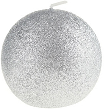 Parfums et Produits cosmétiques Bougie décorative, boule, argent, 8 cm - Artman Glamour