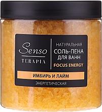 Parfums et Produits cosmétiques Sels de bain-mousse naturels, Gingembre et Lime - Senso Terapia Focus Energy