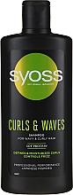 Parfums et Produits cosmétiques Shampooing à l'huile de ricin et panthénol - Syoss Curls & Waves Shampoo