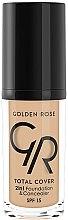 Parfums et Produits cosmétiques Fond de teint et correcteur - Golden Rose Total Cover 2in1 Foundation & Concealer
