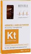 Parfums et Produits cosmétiques Sérum en ampoules à la kératine et jus d'aloe vera pour cheveux - Revuele Keratin+ Ampoules Hair Restoration Activator