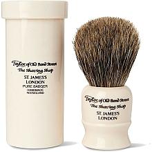 Parfums et Produits cosmétiques Blaireau de rasage avec boîte, 8,25cm - Taylor of Old Bond Street Shaving Brush Pure Badger
