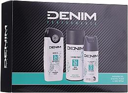 Parfums et Produits cosmétiques Coffret cadeau - Denim Extrem Fresh Set (deo/150ml + sh/gel/250ml + shav/foam/200ml)