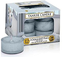 Parfums et Produits cosmétiques Bougies chauffe-plats parfumées Havre de paix - Yankee Candle Scented Tea Light Candles A Calm & Quiet Place