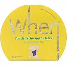 Parfums et Produits cosmétiques Masque tissu anti-âge à la poudre de perles pour cou - When Youth Recharger For Neck Bio-Cellulose Mask