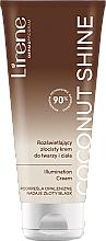 Parfums et Produits cosmétiques Crème à l'eau de coco bio pour visage et corps - Lirene Moccoa Body Shimmer Cream