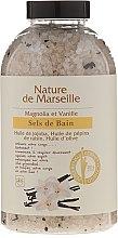 Parfums et Produits cosmétiques Sels de bain aux huiles naturelles et fruits secs à l'arôme de magnolia et de vanille - Nature de Marseille