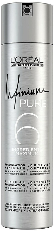 Laque extra forte pour cheveux - L'Oreal Professionnel Infinium Pure Extra Strong