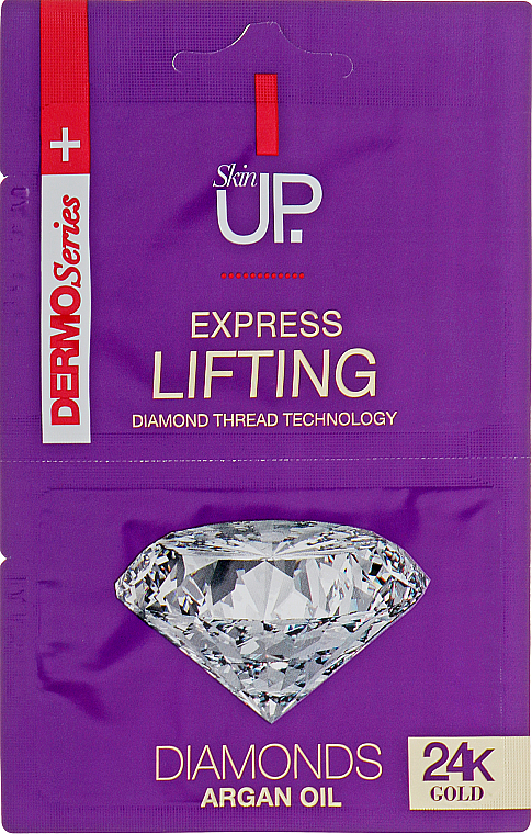 Masque à l'or colloïdal pour visage - Verona Laboratories DermoSerier Skin Up Express Lifting Diamonds 24k Gold