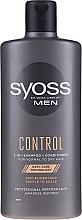 Parfums et Produits cosmétiques Shampooing et après-shampooing à l'huile de ricin - Syoss Men Control 2-in-1 Shampoo-Conditioner