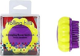 Parfums et Produits cosmétiques Brosse à cheveux démêlante, jaune-violet - Rolling Hills Brosse Desenredar Flower