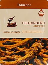 Parfums et Produits cosmétiques Masque tissu à l'extrait de ginseng rouge pour visage - Farmstay Visible Difference Mask Sheet