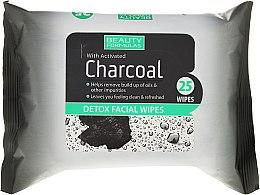 Parfums et Produits cosmétiques Lingettes nettoyantes détoxifiantes au charbon actif pour visage - Beauty Formulas Charcoal Detox Facical Wipes