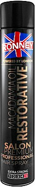 Laque à l'huile de macadamia fixation extra forte - Ronney Macadamia Oil Restorative Hair Spray
