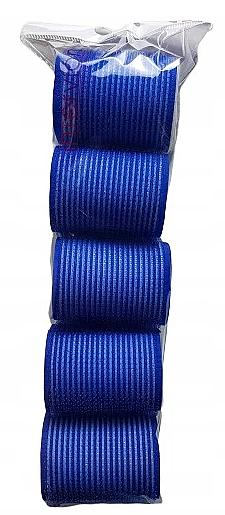 Lot de 5 bigoudis velcro, 498788, 48 mm, bleu - Inter-Vion — Photo N1