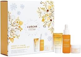 Parfums et Produits cosmétiques Lumene Nordic Valo - Coffret cadeau (baume nettoyant/15ml + essense/30ml + crème/15ml)