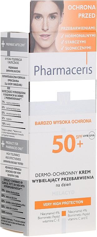 Crème de jour à la niacinamide 4%, SPF 50+ - Pharmaceris W Whitening Dermo-Protective Day Cream