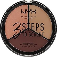 Parfums et Produits cosmétiques Palette sculptante pour visage - NYX Professional Makeup 3 Steps To Sculpting Palette