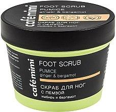 Parfums et Produits cosmétiques Gommage à la pierre ponce pour pieds, Gingembre et Bergamote - Cafe Mimi Foot Scrub Pumice
