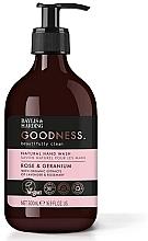 Parfums et Produits cosmétiques Savon liquide végan à l'extrait de lavande et romarin pour mains - Baylis & Harding Goodness Rose & Geranium Natural Hand Wash